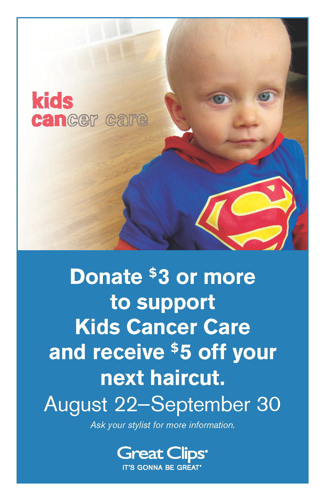 Great Clips Back To School Buzz Kids Cancer Care